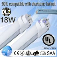 99% compatible with electronic ballasts t8 led tube with battery backup 100-277V UL DLC
