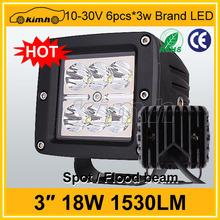 Excellent automobile 18w 12v led work light for ATV