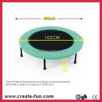 CreateFun 40inch folding mini trampoline round fitness gymnastics trampolines for kinds factory price