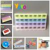 [YOYO Brand] P2809 Customized Logo 28 Compactment Leather Pill Box