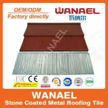 Wanael high quality color steel roof tile/color roof philippines/color roof with price