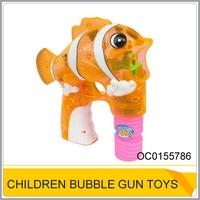 Summer non-toxic fish bubble gun cheap toys OC0155786