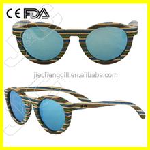 2015 handmade natural wood yiwu sunglasses market with bamboo case UV400 polarized lens