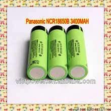 lithium ion NCR18650b Panasonic 3400mah 3.7v battery cells rechargeable battery 18650 li-ion rechargeable batt