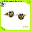 custom gift novelty logo metal gold cufflinks