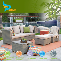 Outdoor Rattan Transformer Sofa Bed Large Size for Family Combination Sectional Patio Set