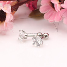 2015 New Design Crystal Stud Earring with the back ball