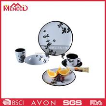 2015 new style plastic round shape melamine tableware new design