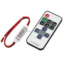 Single Color Remote Control Dimmer DC 12V 11Keys Mini Wireless RF LED Controller for LED Strip Light SMD 5050 / 3528