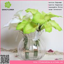 Конкурентоспособная цена пластиковые искусственные цветы, 12 глав калл букет цветов икебана