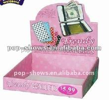 Wallets store box pop small counter display box purse retail paper box EN.181