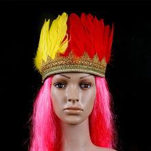 Atacado de natal Halloween carnaval fontes do partido pena Headpiece mantilha indiana