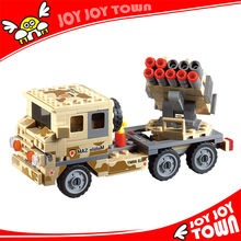 kids gift wholesale+cheap+china+toys building block Missile truck plastic wheels for toy truck Compatible bela toys 84025
