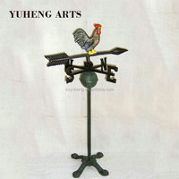 China Supplyier Colorful Animated Metal Rooster Weather Vane