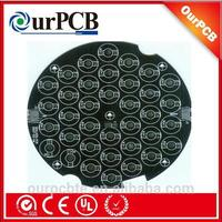 Black soldermask led aluminum PCB assembly