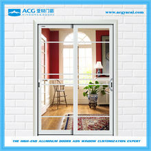Elegant corrosion resistant balcony partition wall sliding door
