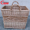 Willow wicker basket with pattern at front and Back with color,hanging bag storage basket wicker crafts