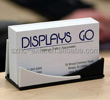 Retail wall mounted acrylic business card holder