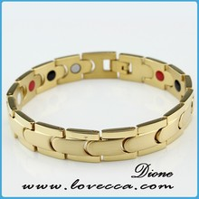 Hot sale new arrival titanium bracelet with fir in ip gold plating