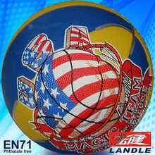 official size 7 rubber made nice strong any logo printed with cartoon outdoor basketball