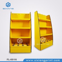 China Wholesale Retail Shop 4 Tiers Corrugated Cardboard Floor Display For Shopping Mall