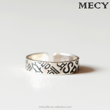 MECY LIFE original design s925 sterling silver pure handmade quantity limted cute charming femle opening cat rings with diamond