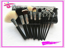 brand new beauty natural makeup brushes 10pcs oem in high quality bag