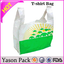 Yason new york plastic bag fold up shopping bag t- shirt bag