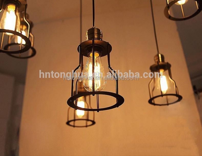 iron edison bulb suspended pendant light view vintage. Black Bedroom Furniture Sets. Home Design Ideas