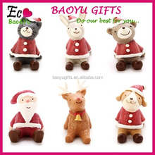 Mini CUTE fashional Resin decoration ,Zakka furnishing articles Christmas looking up at the sky small animal resin gifts