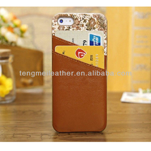 Color Change Back Cover For iPhone 5 5s, New Leather Wallet Card Flip Case Cover Protector For Apple iPhone 5 5s Brown