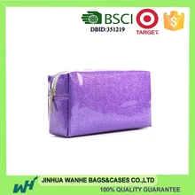 Professional good cosmetic bags glitter pvc cosmetic bag with high quality