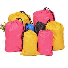 Logo Personalized Wholesale Basic Drawstring Tote Cinch Sack Promotional Bag