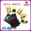 Latest 3d nail stickers of finger nail jewelry for nail suppliers