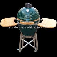 Auplex egg shape ceramic kamado outdoor kitchen bbq