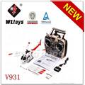 Wl brinquedos V931 2.4 G 6CH 3 hélice Brushless flybarless rc