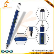 5 in 1 Tech Tool Stylus Touch Pen with custom logo, Ballpoint pen ,Double end Screw driver Ruler in CM and Inch ,Spirit Level
