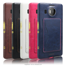 PU Leather Stand Back Case for Nokia lumia 950xl Wholesale Mobile Phone Accessories