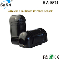 100m 315MHZ/433Mhz outdoor low consumption wireless/wired infrared fence beam sensor