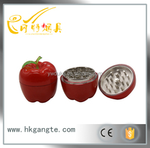 GT5038 Red apple design of the lacquer that bake high-grade zinc alloy herb/tabacco/weed grinder OEM