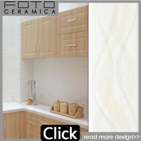Foshan ceramic kitchen line white wave ceramic tile 240 660