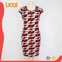 Low Price factory price popular design Casual Mature Women Costumes bodycon Dress in guangzhou