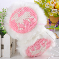 Plush earmuffs winter ear warmer headphones music fashion love snow deer earmuffs wholesale 92g