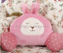 home or car seat waist support pillow/Cute plush waist rabbit animal design pillow