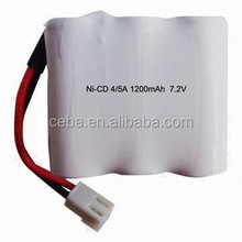 rechargeable high temp aa 600mah 7.2v nicd battery pack