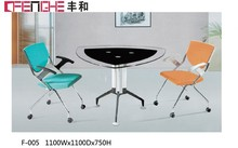 office furniture made in china glass coffee table, glass top conference table