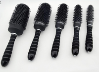 personalized wholesale plastic handle beauty round rotating magic hair curler comb