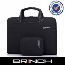 Black neoprene computer bag for ultrathin laptop