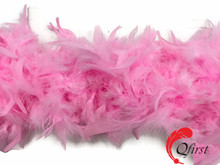 Wholesale fluffy dyed candy pink turkey chandelle feather boas for child