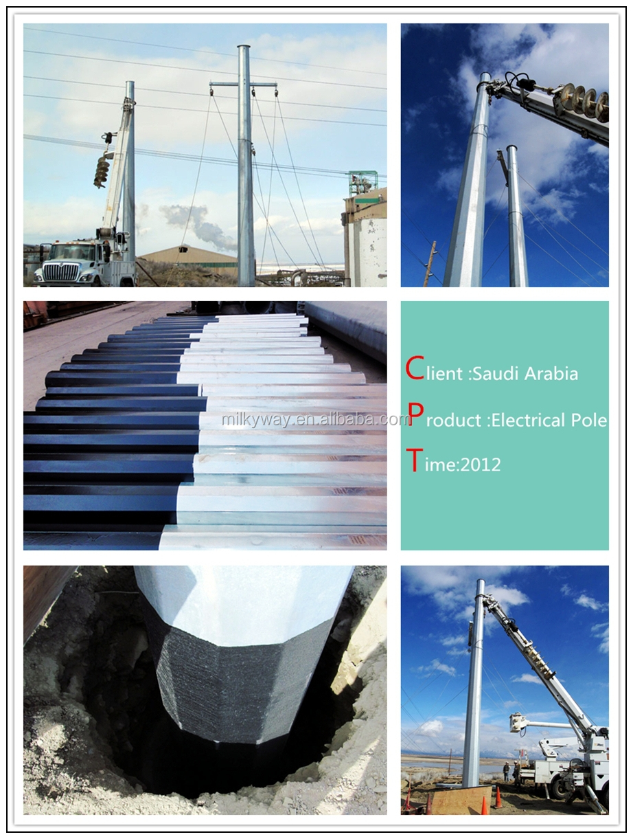 Distribution and Transmission Power Pole,power and data poles